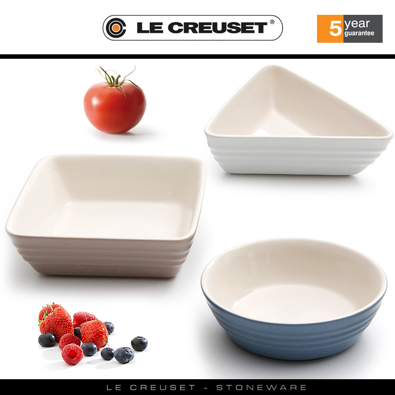 Le Creuset Set Of 3 Tapas Dishes Matte Collection