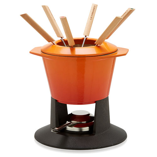 Le Creuset - Cast Iron Gourmand Fondues - Flame