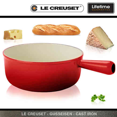 Le Creuset - Cast Iron Caquelon 22 cm - Red