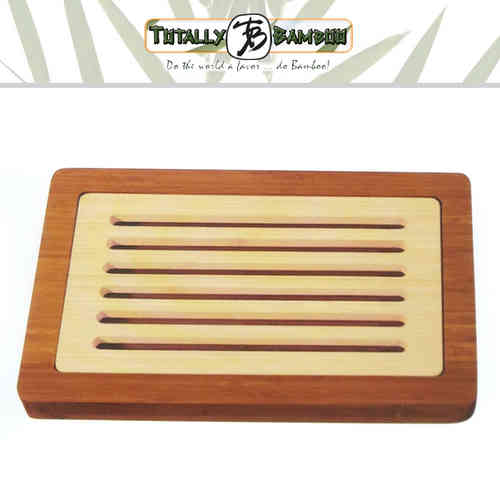 Totally Bamboo - Bread Cutting Board with crumb tray
