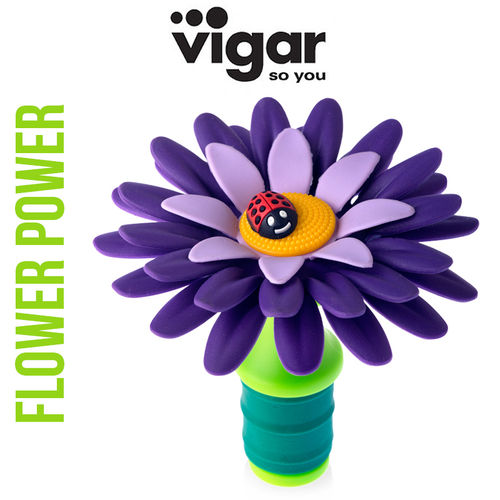 Vigar - Bottle Stopper flower - purple