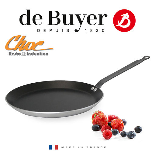 de Buyer - CHOC RESTO INDUCTION - Non-Stick Crêpe Pan