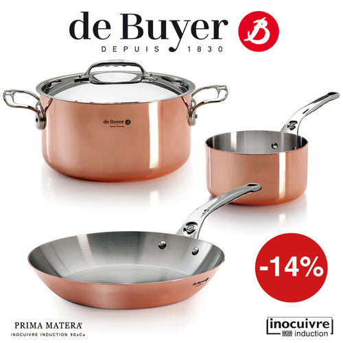 de Buyer - Copper Cookware Set of 3 - Prima Matera