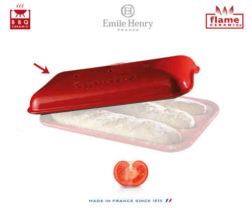 Emile Henry - Baguettes Set Replacement Lid - Red
