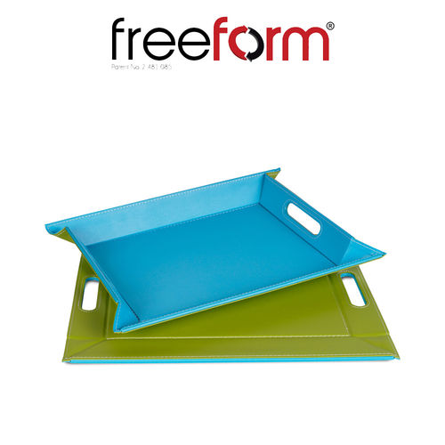 Freeform - Tray - Green & Turquoise - 45 x 35 cm