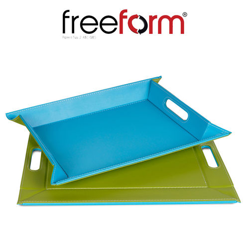 Freeform - Tray - Green & Turquoise - 55 x 41 cm