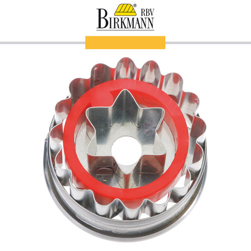 RBV Birkmann - Cookie cutter Linzer cookie with star