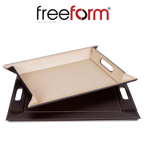 Freeform - Tray - Chocolate & Cream - 55 x 41 cm