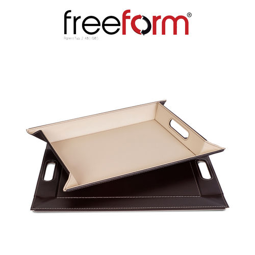 Freeform - Tray - Chocolate & Cream - 45 x 35 cm