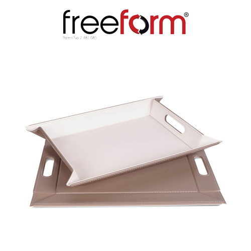 Freeform - Tray - Taupe & White - 45 x 35 cm