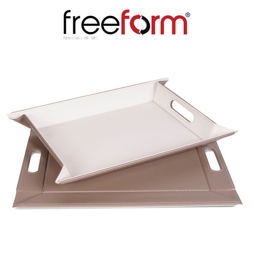 Freeform - Tray - Taupe & White - 55 x 41 cm