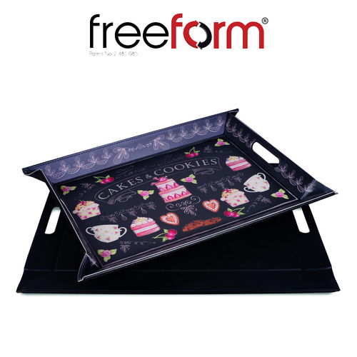 Freeform - Tray - Cakes & Black - 55 x 41 cm