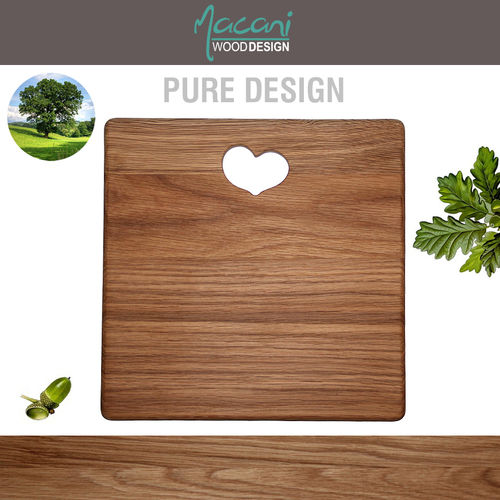 Macani Wood - Cutting Board Heart 28 x 28 cm