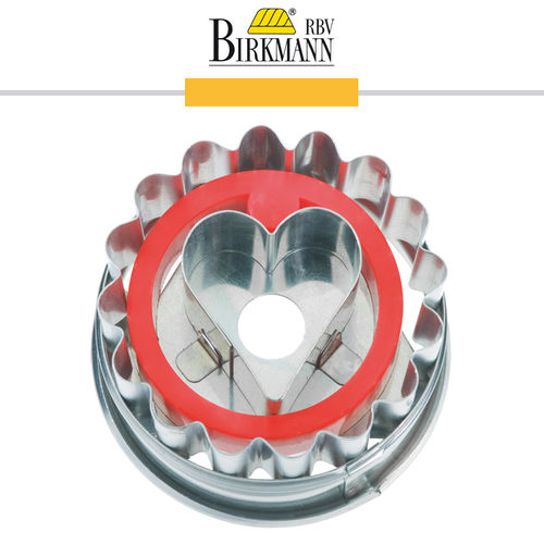 RBV Birkmann - Cookie cutter Linzer cookie with heart 5 cm