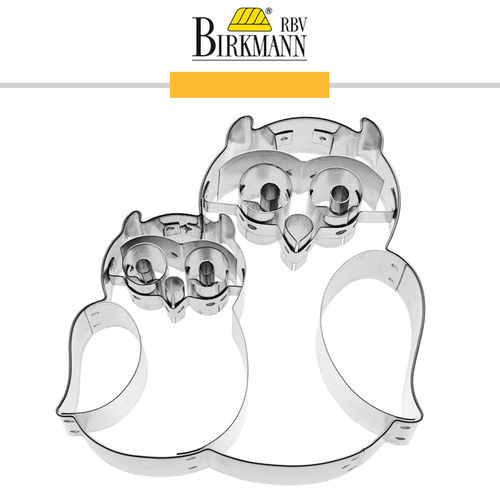 RBV Birkmann - Cookie cutter Kunti & Krümel the owl 9 cm