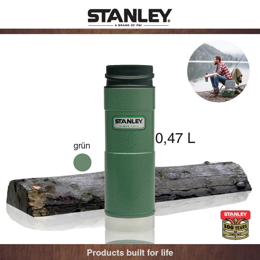 Stanley - Outdoor - One Hand Mug, green 0,47 L