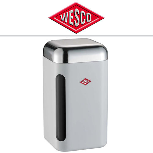 Wesco - Canister square with window 2 L - White