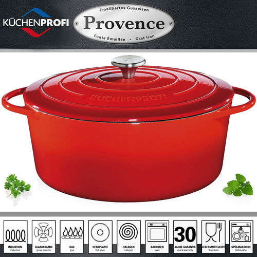 Küchenprofi - PROVENCE - oval French Oven - red
