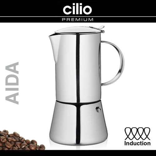 "cilio - Espresso Maker ""Aida"" polished - INDUCTION"