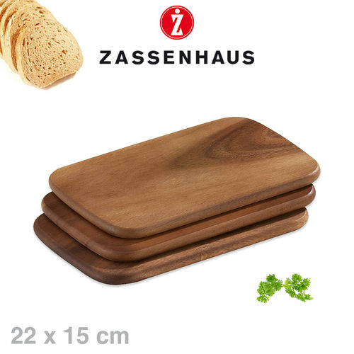 Zassenhaus -  Set of 3 breakfast boards acacia - 22x15 cm