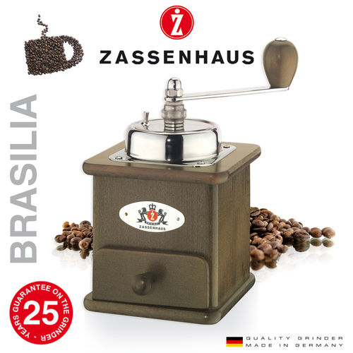 "Zassenhaus - Coffee mill  ""Brasilia"" - dark stained"