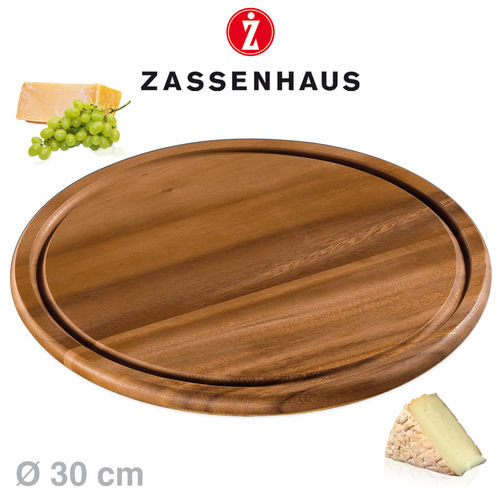 Zassenhaus - Cheese / steak plate acacia wood - Ø 30 cm