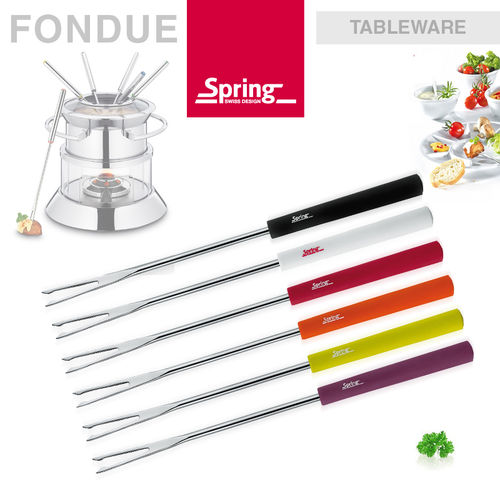 Spring - Cheese fondue forks Basic 6pcs. multicolored