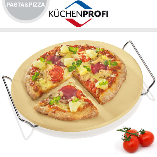 Küchenprofi - Pizza stone with base Ø 30 cm