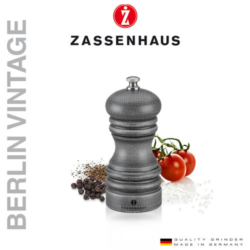 "Zassenhaus - Pepper and salt mill ""Berlin"" Vintage - 12cm"