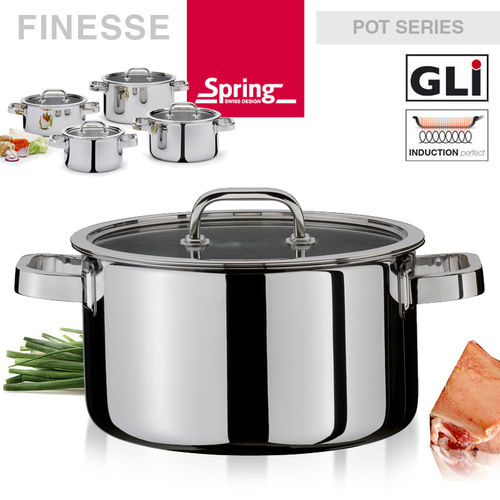 Spring - Pot series Finesse - deep casserole with lid