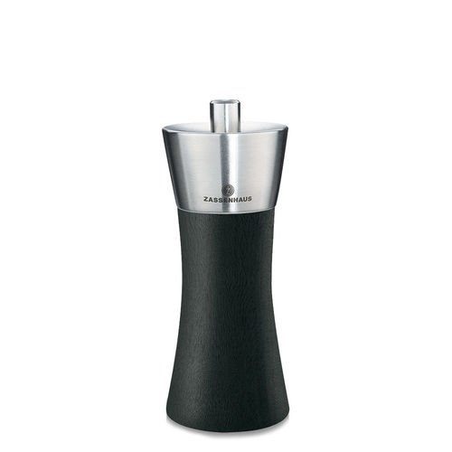 "Zassenhaus - Pepper and salt mill ""Augsburg"" black - 14 cm"