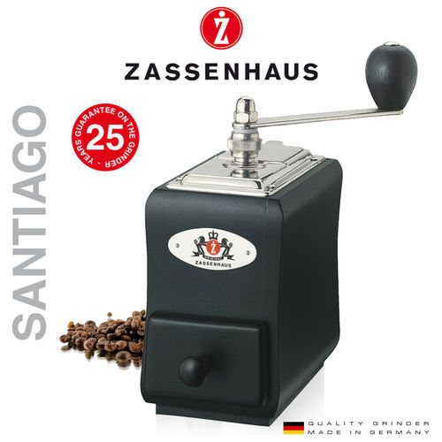 "Zassenhaus - Coffee mill  ""Santiago"" - beech black"
