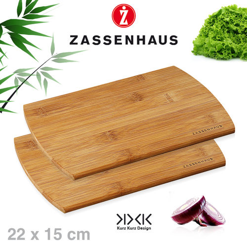 Zassenhaus -  Set of 2 breakfast boards bamboo - 22x15 cm