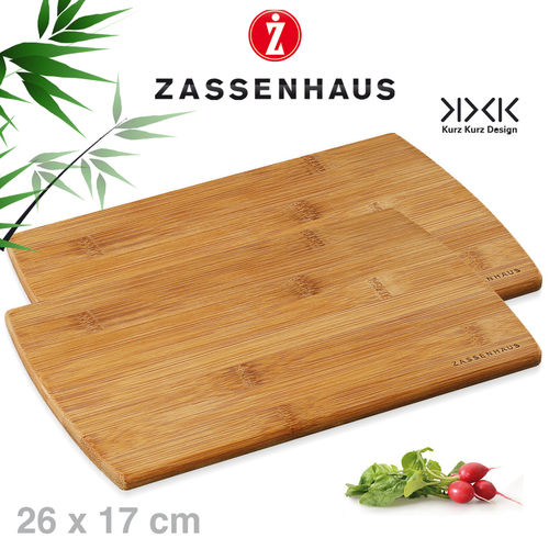 Zassenhaus -  Set of 2 breakfast boards bamboo - 26x17 cm