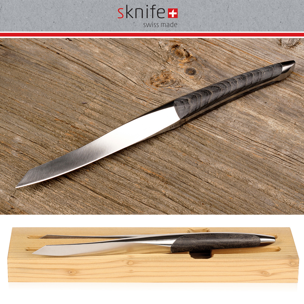 sknife - steak knife Set of 2 - ash wood
