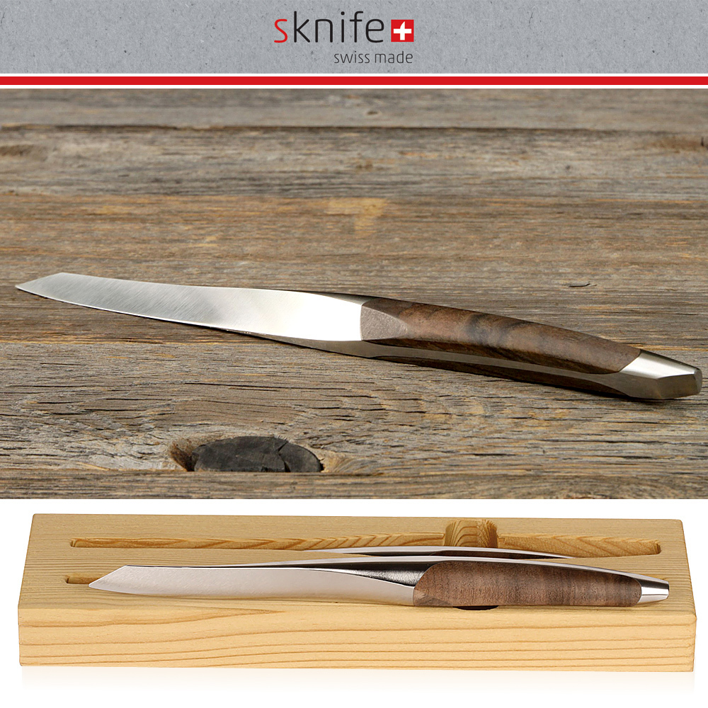 sknife - steak knife Set of 2 - walnut