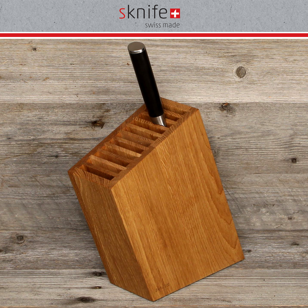 sknife - knife block oblique - oak