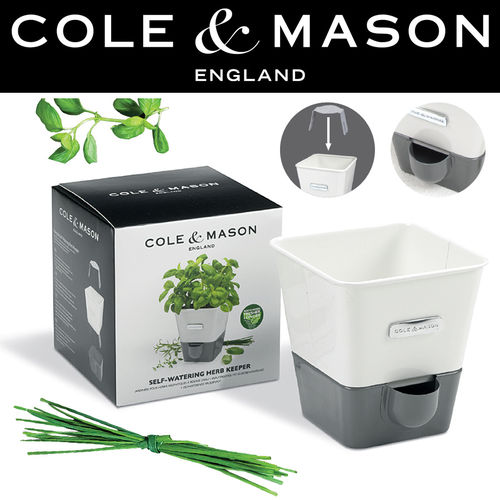 COLE & MASON - Self-Watering Single Potted Herb Keeper