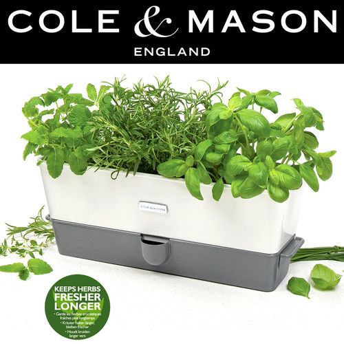 COLE & MASON - Self-Watering Triple Potted Herb Keeper