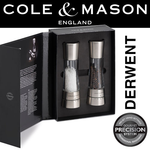 COLE & MASON - Derwent Pepper and Salt Mill Set