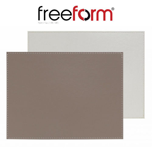 Freeform - Placemat - Taupe & White - 40 x 30 cm