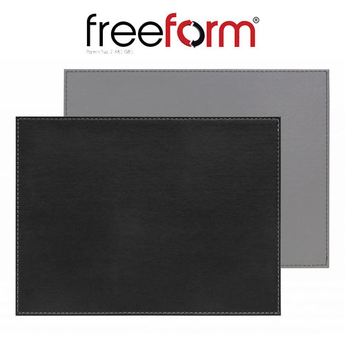 Freeform - Placemat - Black & Grey - 40 x 30 cm