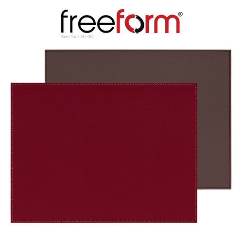 Freeform - Placemat Burgund / Anthrazit metallic  - 40 x 30 cm