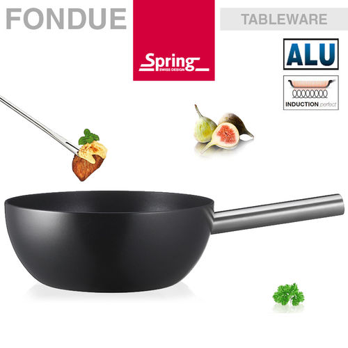 Spring - Fondue pot alu induction black