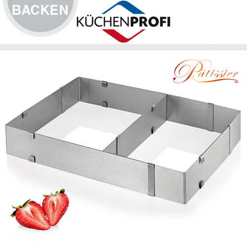 Küchenprofi - cake ring adjustable - Rectangle
