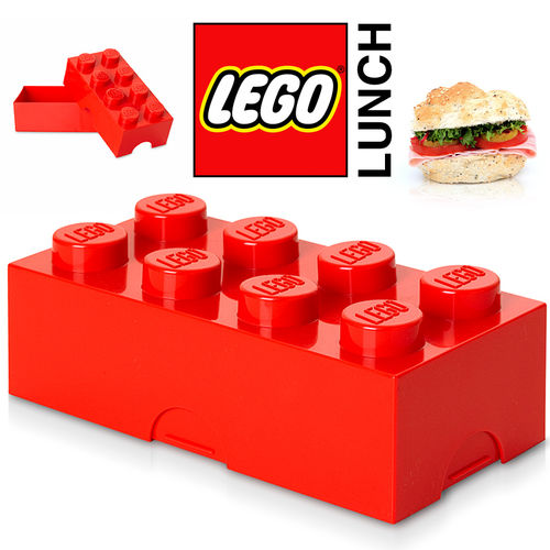 LEGO - Lunch Box - Rot