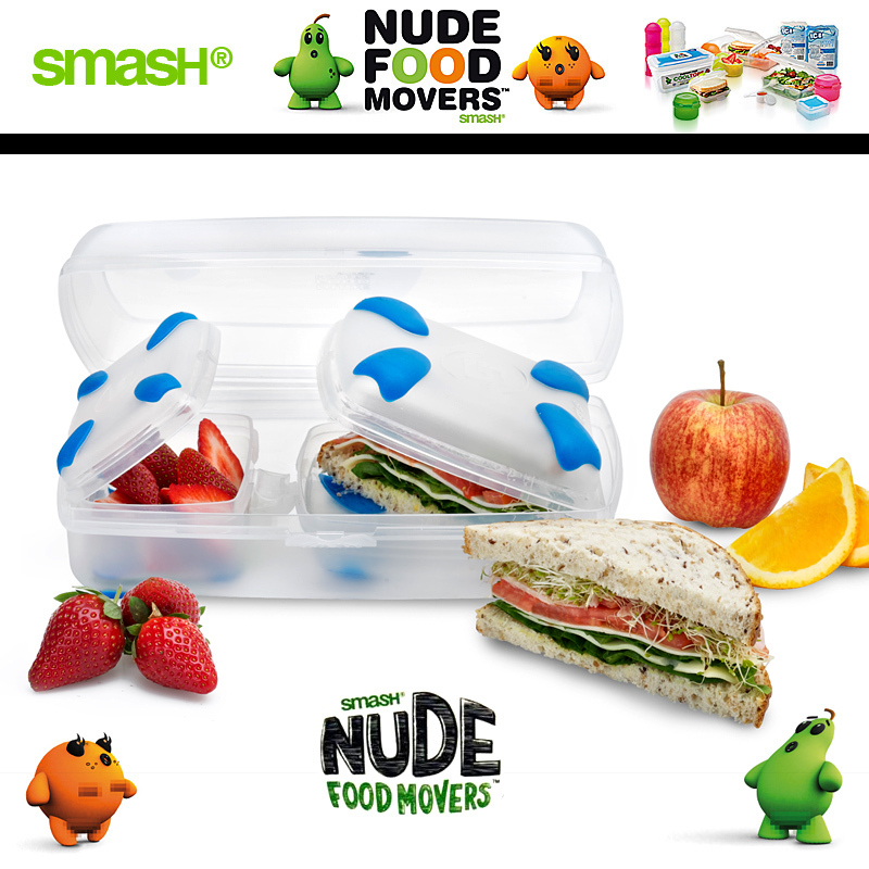 Smash - Nude Food Movers - Lunchkit Blue