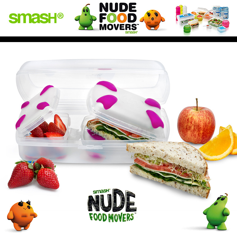 Smash - Nude Food Movers - Lunchkit Pink