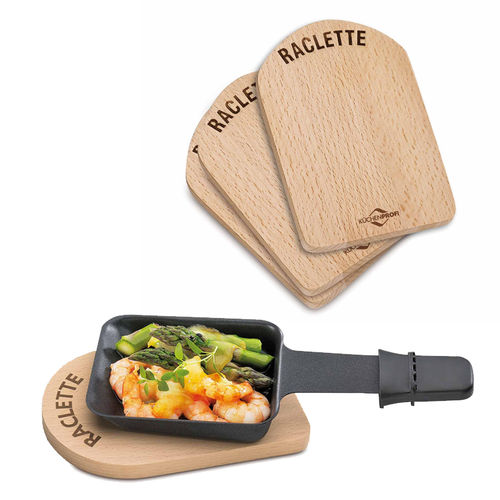 Kitchenprofi - Raclette Board Wood Set of 4