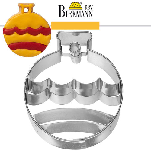 RBV Birkmann - Christbaumkugel with inner impression 6,5 cm